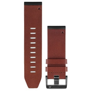 Garmin Fenix 5x Quick Fit Watch Band Brown Leather 26mm