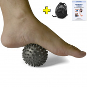 STURME Massage Ball Spiky foot Massager for Foot Back Muscle All Body Deep Tissue Trigger Point Therapy Best Therapeutic Massaging Roller Yoga Balls Includes Free Ebook and Holder Bag