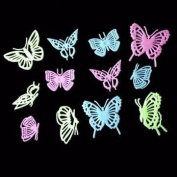 12Pcs Butterflies Noctilucence Wall Stickers Colourful Fluorescent Home Kid Room Decor Gift