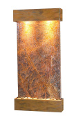 Whispering Creek Water Feature with Rustic Copper Trim and Square Edges