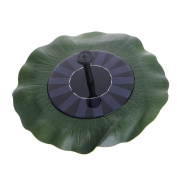 Itemap Floating Lotus Leaf Shape Solar Fountain Water Pump for Garden Pond Decoration