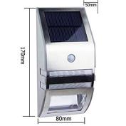 Yerger Creative Solar Powered Infrared Motion Sensor LED Wall White Light Lamp