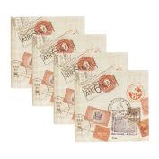 DesignOvation Passport Stamps Travel Photo Album, Holds 200 4x6 Photos, Set of 4