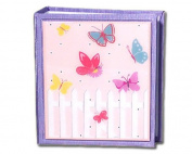 Flowers & Butterflies Girl's Classic Decoupage Small Photo Album