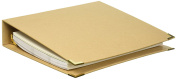 Adorn-It 81031 Art Play Kraft 3 Ring Binder Planner, 20cm x 25cm , Blank DIY, Brown