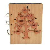 Giftgarden the Fruit of the Family Tree 5x7 Photo Album Wood Photo Book 120 Pockets