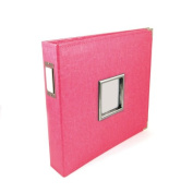 We R Memory Keepers Classic Leather 3-Ring Album with Window, 30cm x 30cm , Strawberry