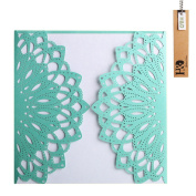 YUFENG 24pcs Laser Cut Wedding Invitations Cards Kit for Marriage Engagement Birthday Bridal Shower