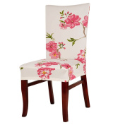 Trenton Stretch Removable Washable Short Dining Chair Protector Cover Slipcover