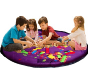 Agooding Children Play Mat and Toy Storage Bag, Purple
