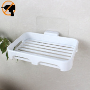 Fealkira Soap Dish Holder for Bathroom Shower Wall Mounted Self Adhesive Nail Free No Drilling Soap Holder Saver Tray-Plastic Sponge Holder for Kitchen Storage Rack Soap Box