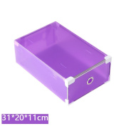 Storage Box,1PC Foldable Clear Plastic Shoe Box Drawer Stackable Storage Organiser Non-toxic By Dacawin