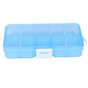 Storage Case,Plastic 10 Slots Adjustable Jewellery Storage Box Case Craft Organiser Bead By Dacawin