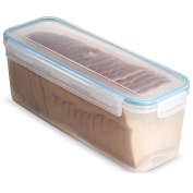 Komax Biokips Bread Box With Tray 3500ml - Airtight, Leakproof With Locking Lid - BPA Free Plastic Food Storage Container- Freezer and Dishwasher Safe