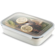 Komax Stenkips Stainless Steel Food Storage Lunch Container Large 1700ml - Airtight, Leakproof With Locking Lids - BPA Free Plastic - Microwave, Freezer and Dishwasher Safe