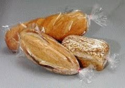 """Bread Bags - 8x 4"""" x 46cm Gusset Style Poly Bags - Pack of 100 with 100 Free Bread Ties, keep Food Fresh"""