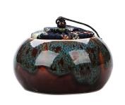[Multicolor-3] Ceramic Tea Canister Coffee Tins Spice Jar Exquisite Tea Caddy