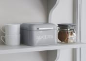 Contemporary style Biscuit tin with hinged lid