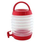 Collapsible Beverage Dispenser Good for Picnics Parties Etc. Holds Over One Gallon