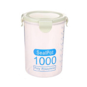 FTXJ Plastic Sealed Food Storage Jars Cans Kitchen Wide-mouth Transparent Canister