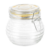 Panorama Gifts 500Ml Glass Storage Jar With Air Tight Seal Lid Ring Design