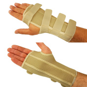 Ezy-Aid Premium Woven Wrist Support Splint Brace - Pain Relief from Carpal Tunnel Syndrome, Fractures, RSI, Sprains, Strains, Arthritis, Tendonitis - Superior Quality