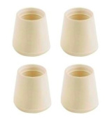 Delfinware Spares Rubberised Feet in Cream, Set of 4