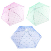 Dreammy New Foldable Lace Food Umbrella Cover Fly Wasp Insect Net Picnic Kitchen Mesh Net Dining Table Anti-flies Food Fruit Breathable Cover