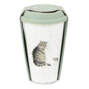 Wrendale Travel Mug (Cat), Multi Coloured