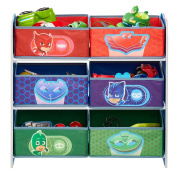 HelloHome Pj Masks Kids Bedroom Toy Storage Unit with 6 Bins, Wood, Multicoloured