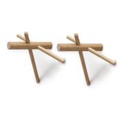 Normann Copenhagen 380505 Sticks Hooks Wall Hooks Set of 2