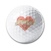 I Love You Practise Soft Feel Reduces Drag Men Women Kids Golf Balls Training Ball For Club Practise