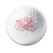 I Love You Ornament Thin Long-lasting Durability Men Women Kids Golf Ball Training Ball For Playing Practise