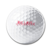 I Love You Ornament Super Straight Reduces Drag Men Women Kids Golf Ball Training Ball For Game Practise