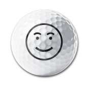 Happy Face Practise Soft Feel Reduces Drag Men Women Kids Golf Balls Training Ball For Club Gifts