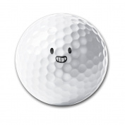 Happy Face Design Thin Long-lasting Durability Men Women Kids Golf Ball Training Ball For Playing Practise