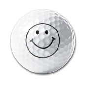 Happy Face Design Super Long Long-lasting Durability Men Women Kids Golf Ball Training Ball For Game Gifts