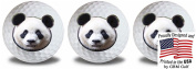 Wild Animal Panda Golf Balls 3 Pack by GBM Golf