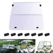 AW Club Car DS 1982-2000 Clear Fold Down Windshield Impact Resistant Acrylic Golf Cart Split Windshield