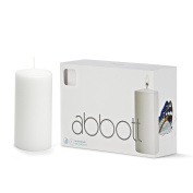 Abbott Collection Classic Pillar Candles, White, Medium