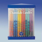 Chanukah Candles- Hand Decorated Rainbow, Striped