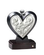 Unity Heart Slate Black and Pearl White