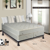 Spring Solution Mattress, 23cm Fully Assembled Orthopaedic Back Support Queen Mattress and 20cm Split Box Spring,Hollywood Collection
