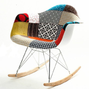 Fine Mod Imports FMI10098-coloured Patterned Rocker Arm Chair