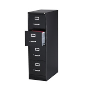 Office Dimensions Commercial 4 Drawer Letter Width Vertical File, 60cm Deep, Black