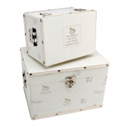 Cute Baby Keepsake Set of Two Storage Boxes by Haysom Interiors