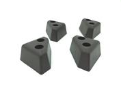 ProFurnitureParts 3.2cm Tall Triangle Corner Sofa Legs, Brown Colour, Set of 4, HDPE Plastic