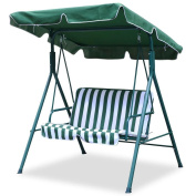 World Pride 2 Seater Green Outdoor Patio Garden Swing Cushioned Canopy Furniture Hammock