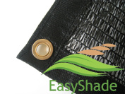 EasyShade 50% Black Shade Cloth Taped Edge with Grommets UV 3.7m x 3m