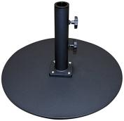Tropishade Commercial Grade Steel Plate Umbrella Base, Black, 23kg